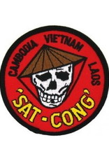 """MidMil Embroidered SAT-CONG Cambodia Vietnam Laos Patch 3"""""""