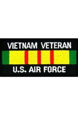 """MidMil Embroidered Vietnam Veteran U.S. Air Force Patch with Ribbon 4"""" wide x 2"""" high"""