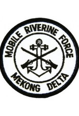 """MidMil Embroidered Mobile Riverine Force - Mekong Delta Patch with Emblem 3"""""""