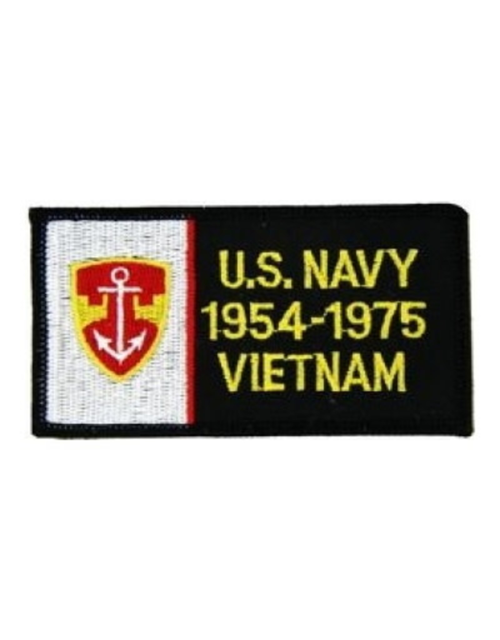 """MidMil Embroidered U.S. Navy 1954-1975 Vietnam Patch 4.1"""" wide x 2.1"""" high"""