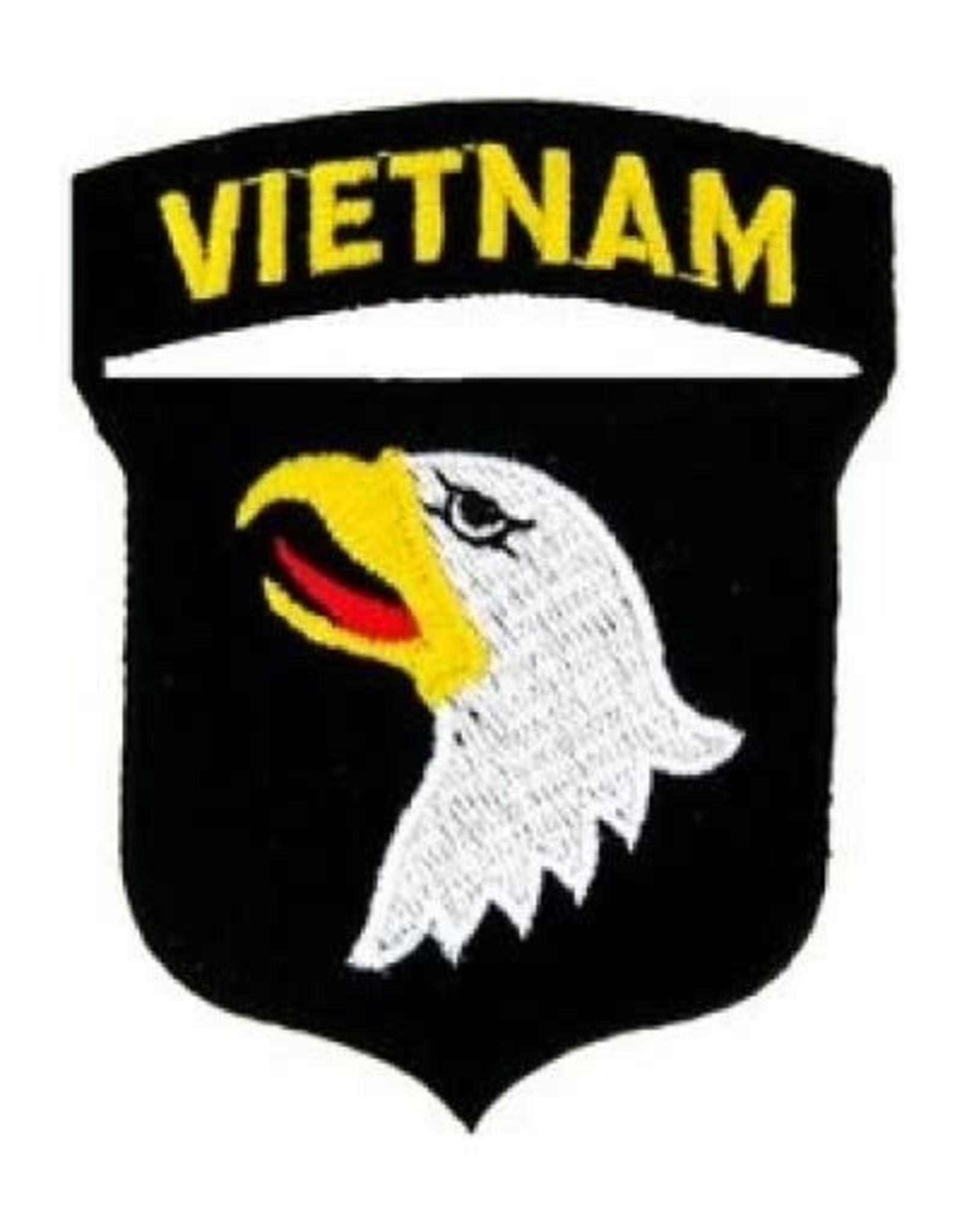 "MidMil Embroidered 101st Airborne Vietnam Emblem Patch 2.5"" wide x 3.1"" high"