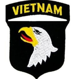 "MidMil Embroidered 101st Airborne Vietnam Emblem Patch 2.5"" wide x 3.1"" high"