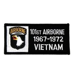 "MidMil Embroidered 101st Airborne 1967-1972 Vietnam Patch 4"" wide x 2"" high"