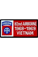 """MidMil Embroidered 82nd Airborne 1968-1969 Vietnam Patch with Emblem 4"""" wide x 2"""" high"""