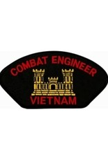 "MidMil Embroidered Combat Engineer Vietnam Patch with Emblem  5.2"" wide x 2.7"" high Black"