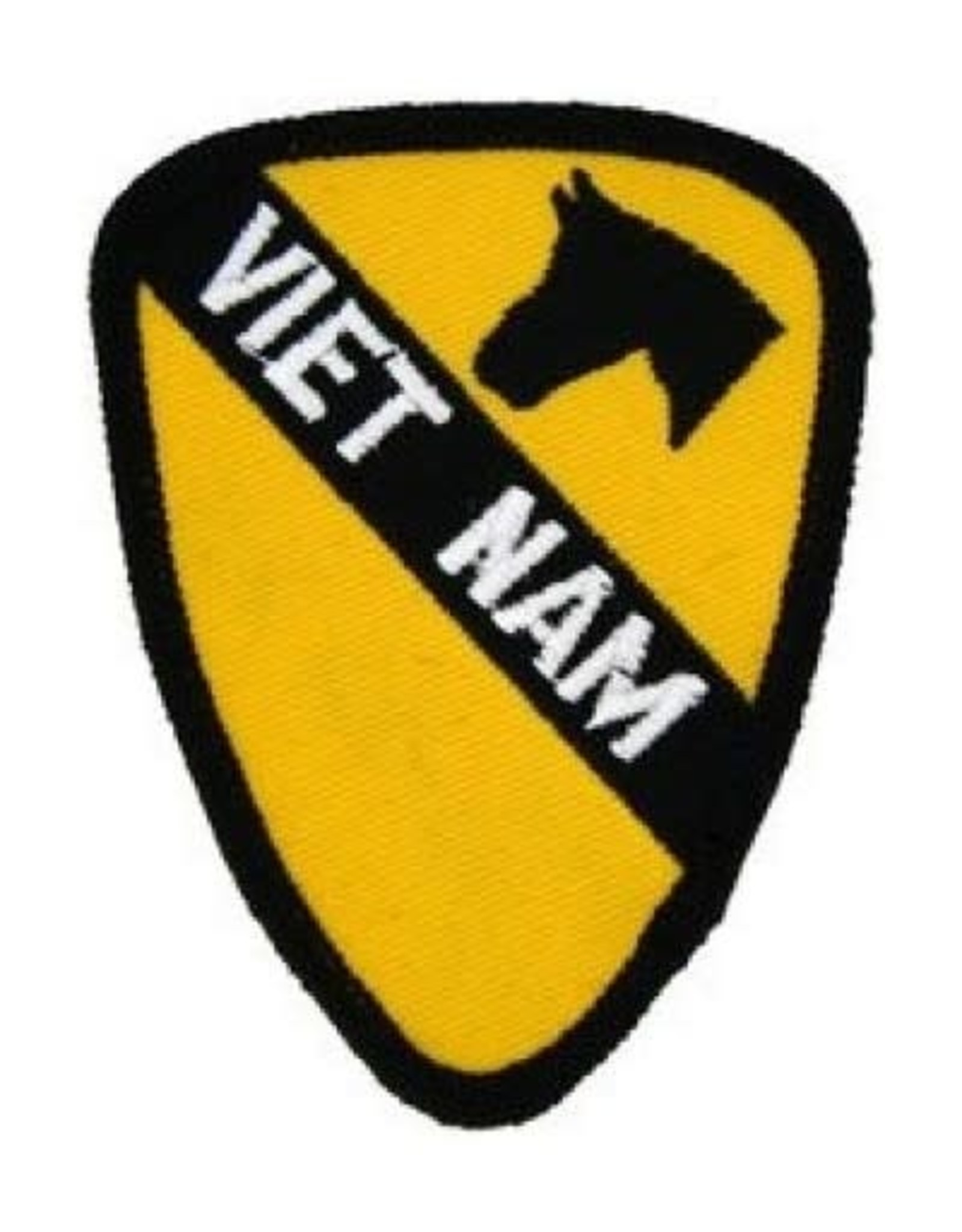 "MidMil Embroidered 1st Cavalry Division Emblem Vietnam Patch 2.4"" wide x 3.1"" high"