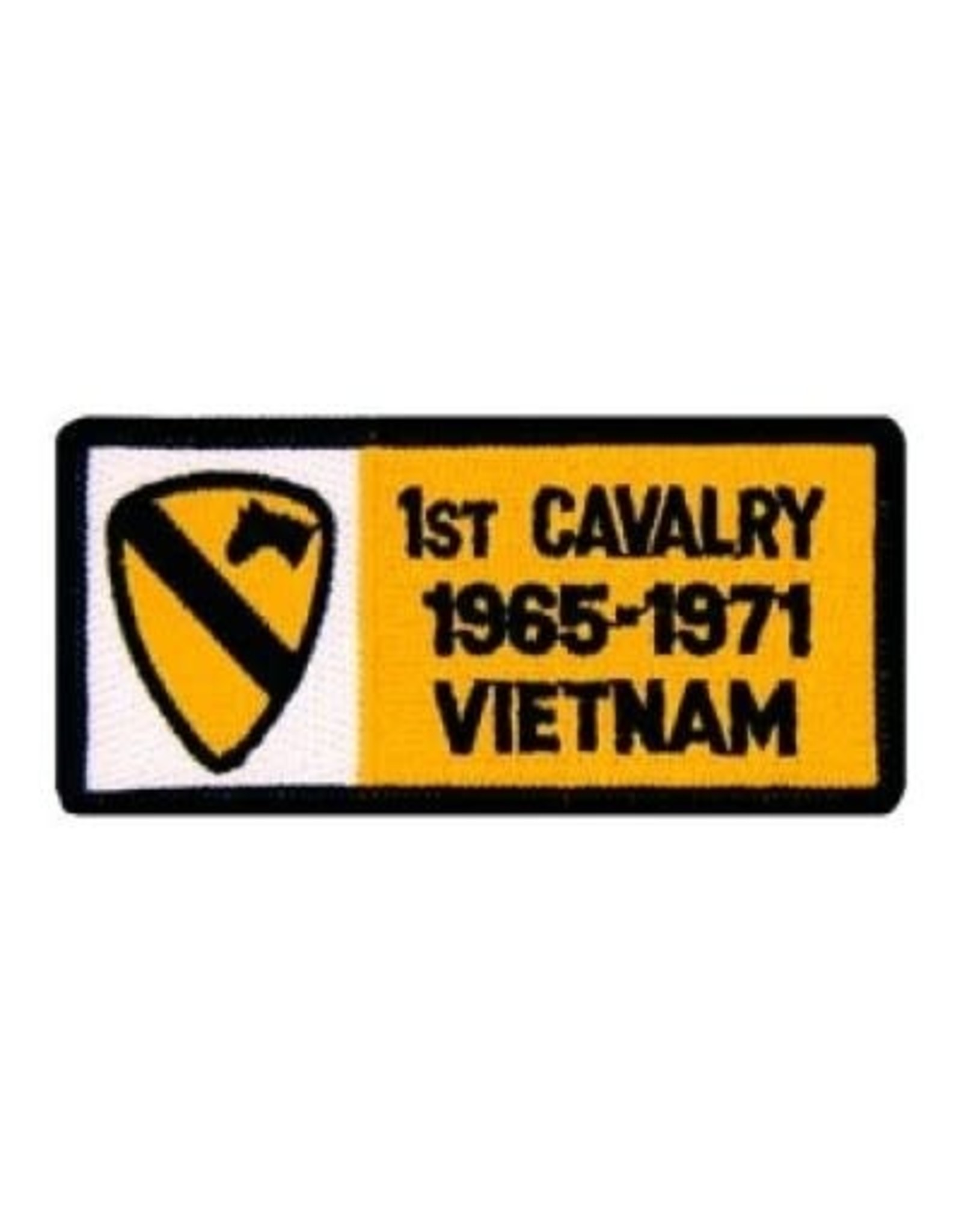 """MidMil Embroidered 1st Cavalry 1965-1971 Vietnam Patch with Emblem 4"""" wide x 1.8"""" high"""