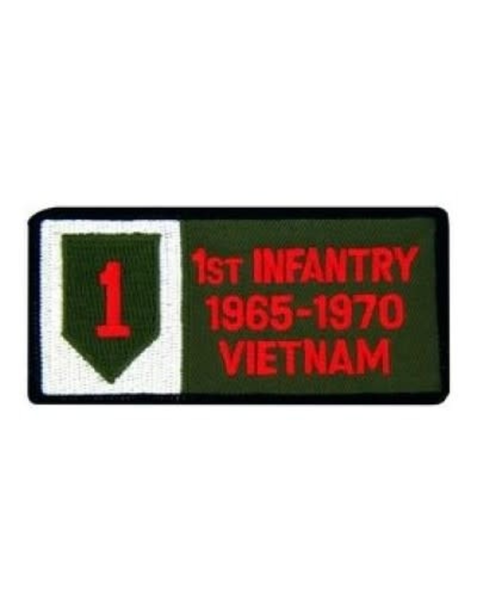 "MidMil Embroidered 1st Infantry 1965-1970 Vietnam Patch with Emblem 4"" wide x 2"" high"