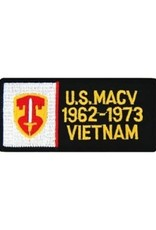 """MidMil Embroidered U.S. MACV 1962-1973 Vietnam Patch with Emblem 4"""" wide x 2"""" high"""