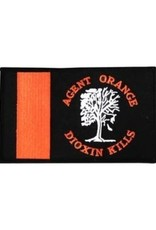 """MidMil Embroidered Agent Orange - Dioxin Kills Patch with Dead Tree 5"""" wide x 3"""" high"""