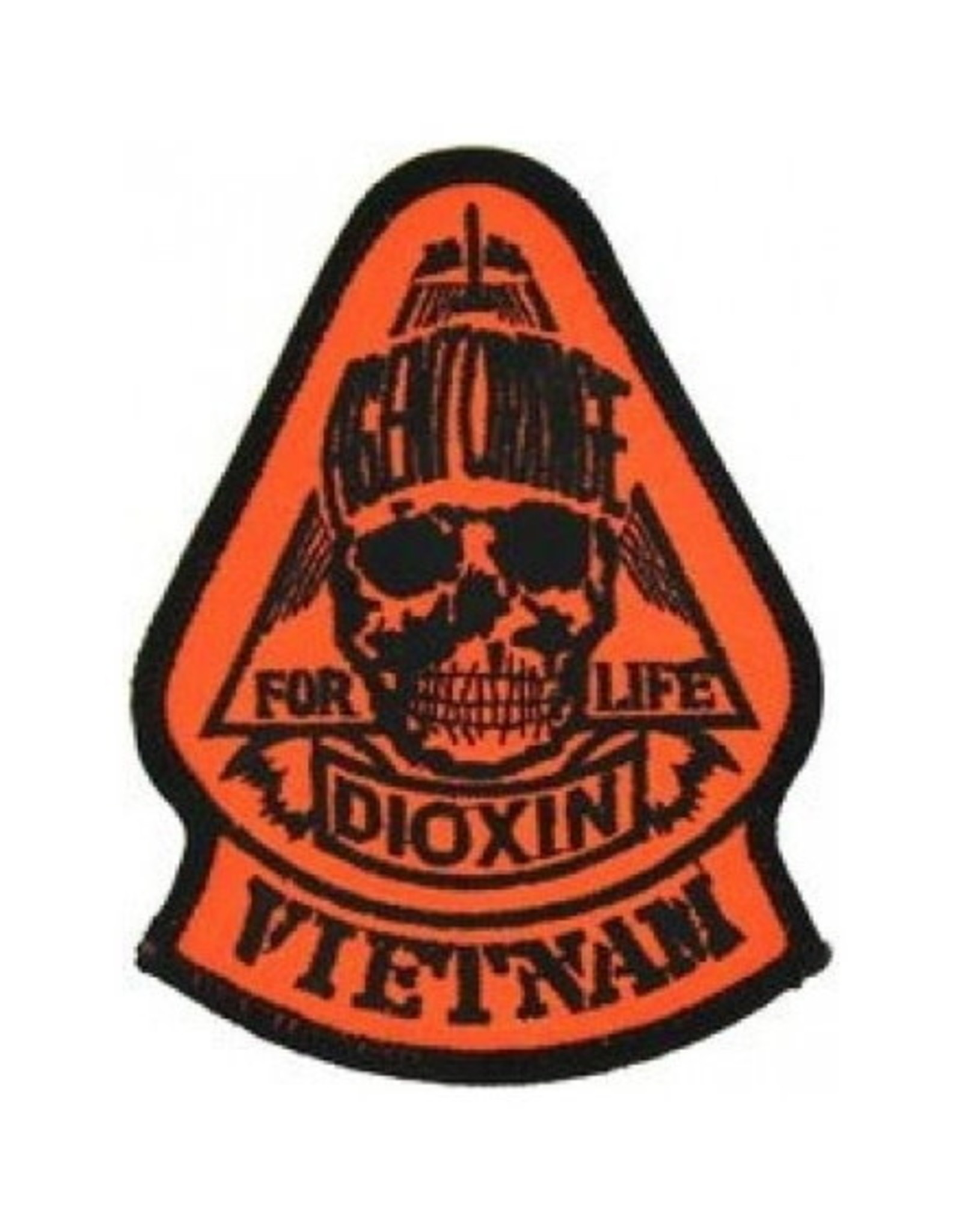 """MidMil Embroidered Vietnam  Agent Orange Dioxin For Life Patch 3"""" wide x 4"""" high"""