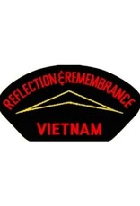 "MidMil Embroidered Reflections & Remembrance Vietnam Patch with Wall Emblem 5.2"" wide  x 2.7"" high Black"