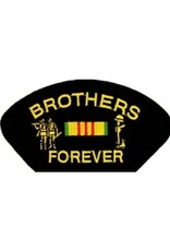 "MidMil Embroidered Vietnam Brother's Forever Patch with Emblem and Ribbon 5.2"" wide x 2.7"" high Black"