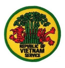 """MidMil Embroidered Republic of Vietnam Service Patch with Dragon in Trees 3"""""""