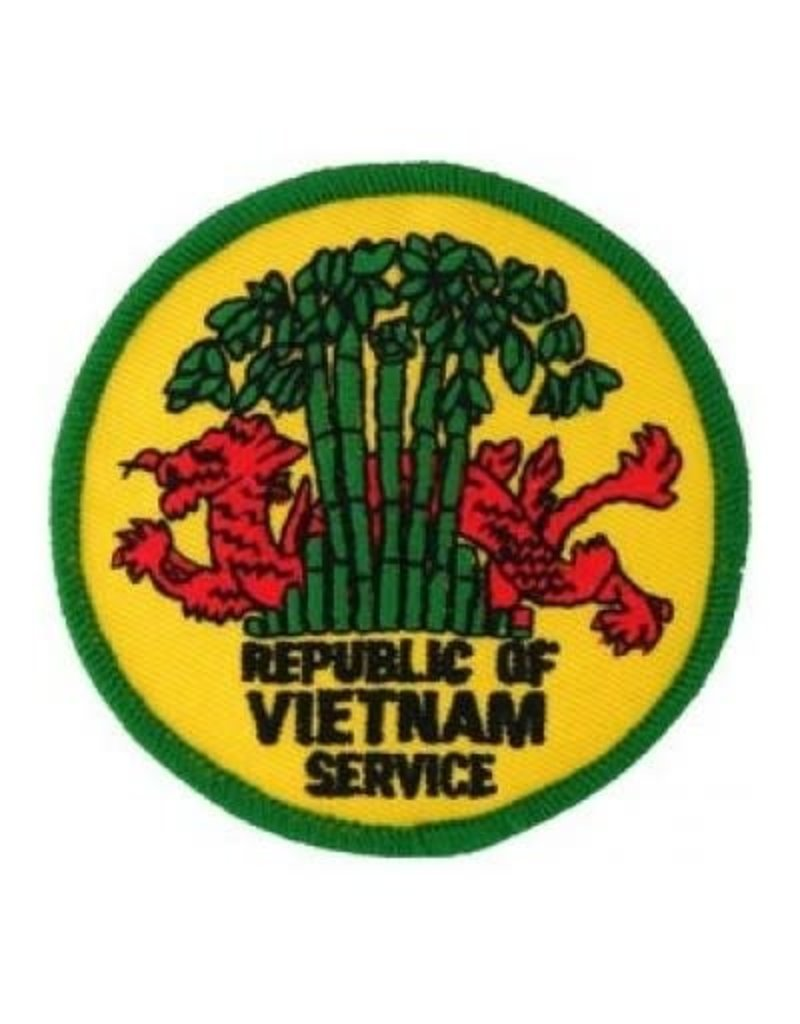 MidMil Embroidered Republic of Vietnam Service Patch with Dragon in Trees 3""