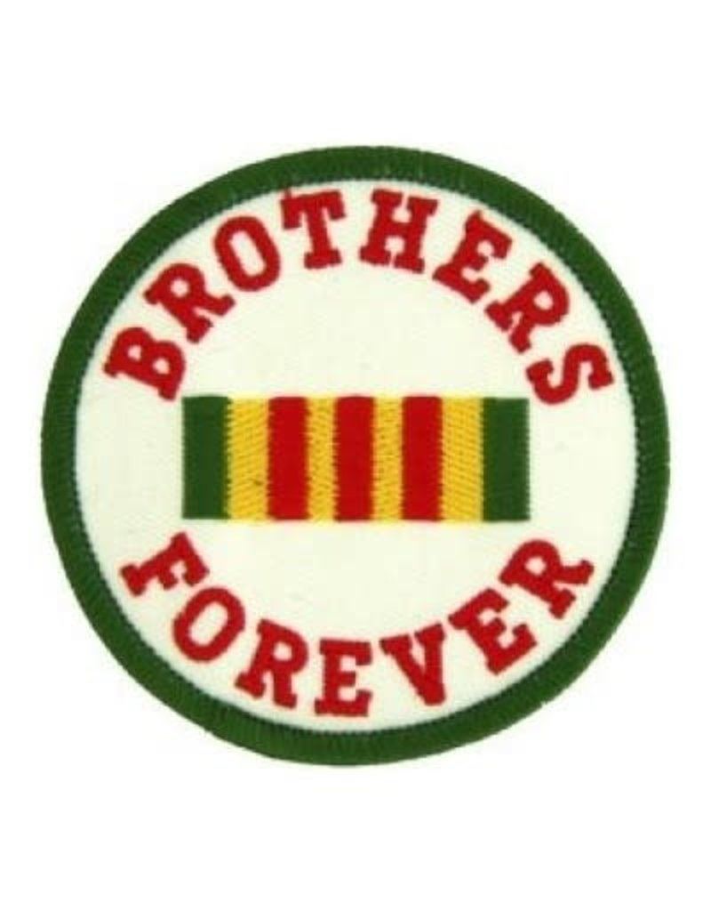 MidMil Embroidered Brothers Forever Patch with Vietnam Service Ribbon 3""