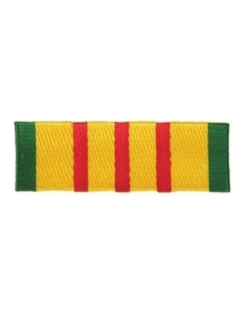 """MidMil Embroidered Vietnam Service Ribbon Patch 4.5"""" wide x 1.5"""" high"""