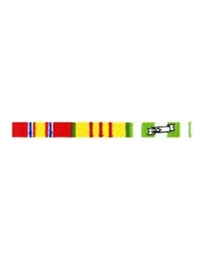 """MidMil Embroidered Vietnam Ribbons Patch 4.1"""" wide x 0.4"""" high"""