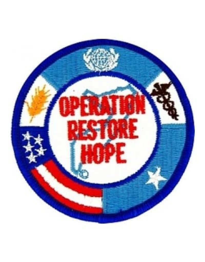 MidMil Embroidered Operation Restore Hope Patch 3""