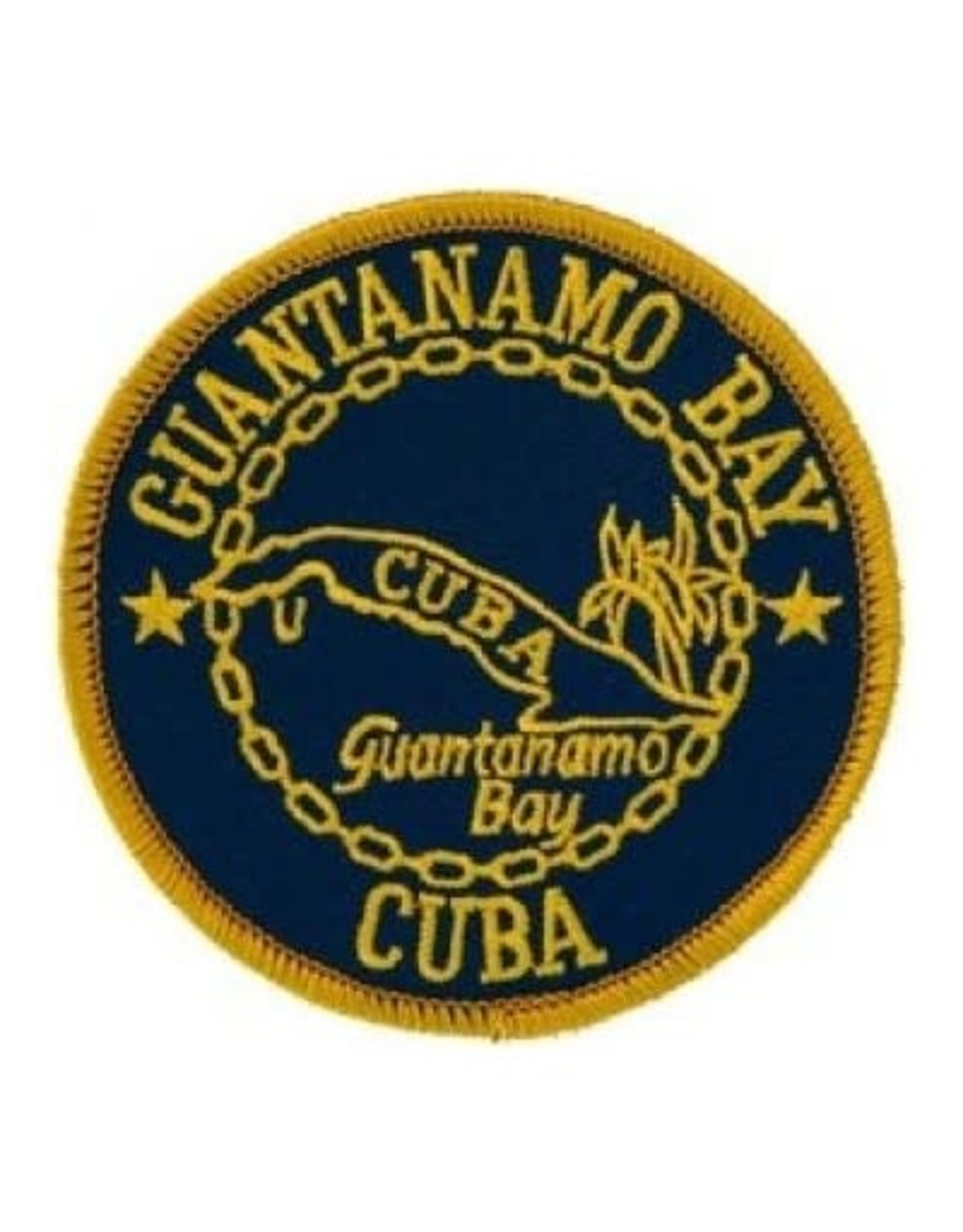 """MidMil Embroidered  Guantanamo Bay, Cuba Patch 3"""""""