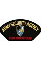 "MidMil Embroidered Army Security Agency Cold War Veteran Patch with Emblem 5.2"" wide x 2.7"" high Black"