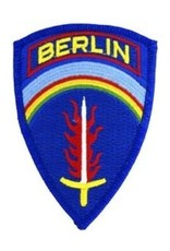 "MidMil Embroidered SHAEF BERLIN Patch 2.7"" wide x 3.8"" high"