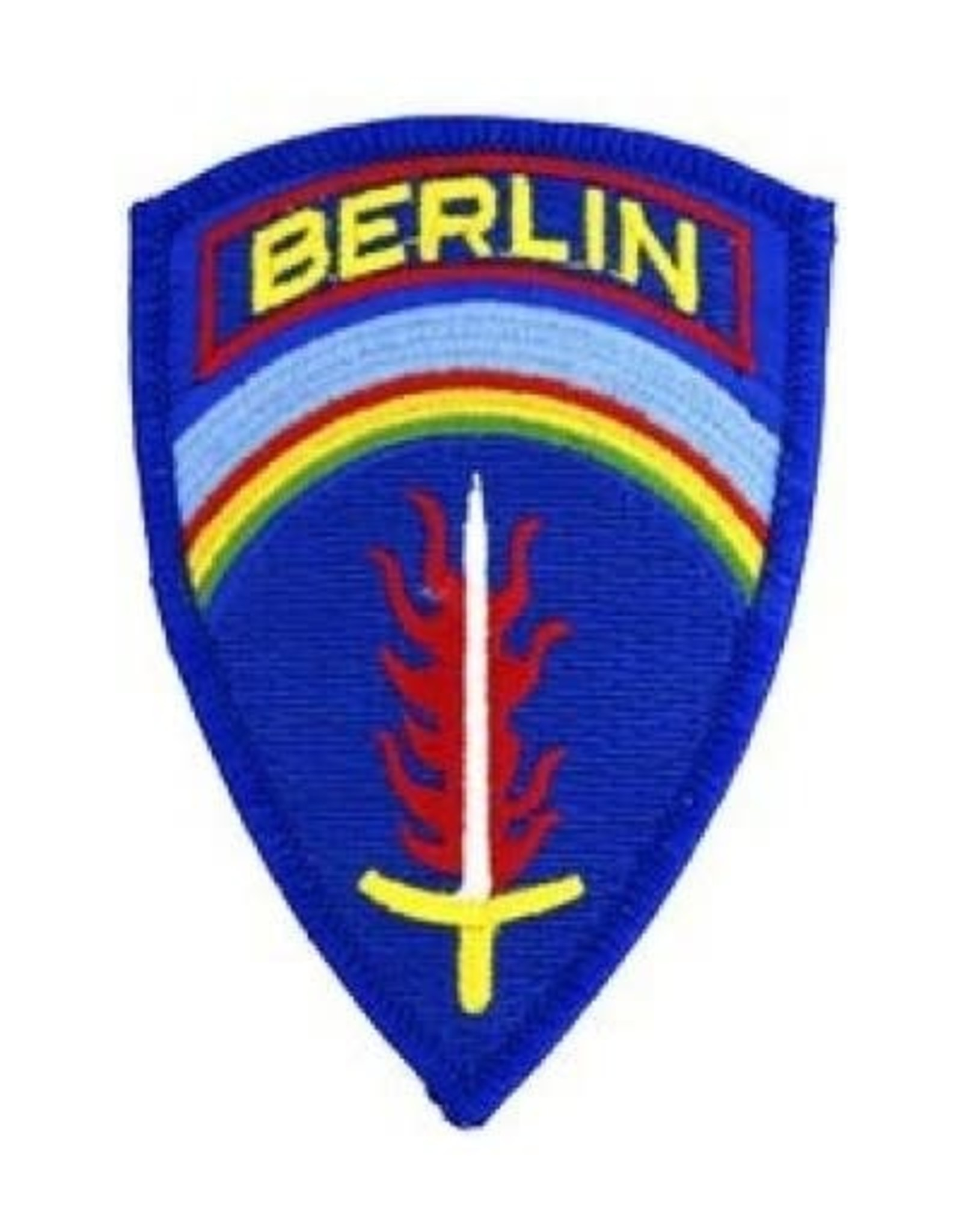 """MidMil Embroidered SHAEF BERLIN Patch 2.7"""" wide x 3.8"""" high"""