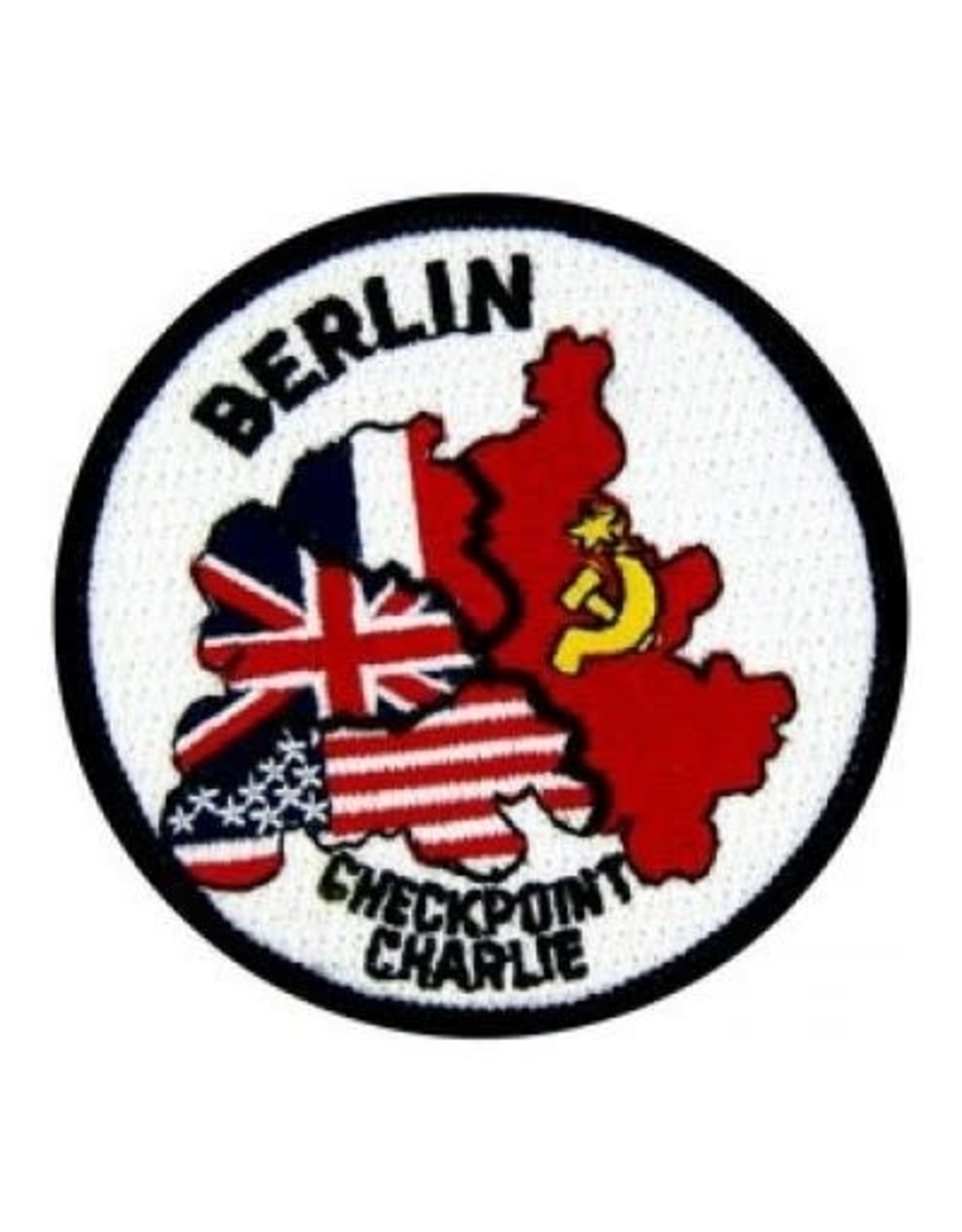 """MidMil Embroidered Berlin Checkpoint Charlie Patch 3"""""""