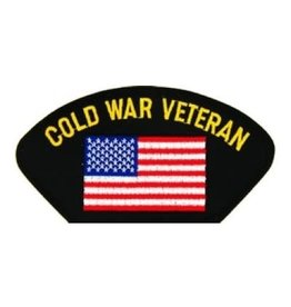 "MidMil Embroidered Cold War Veteran Patch with American Flag 5.2"" wide x 2.7"" High Black"