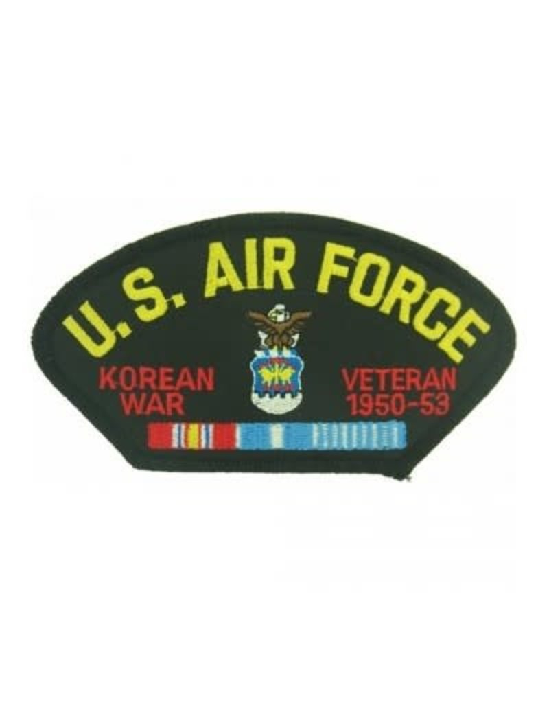 """MidMil Embroidered U.S. Air Force Korean War Veteran 1950-1953 Patch with Emblem and Ribbons 5.2"""" wide x 2.7"""" high Black"""