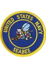 """MidMil Embroidered United States Navy Seabee Patch with Emblems 3"""""""