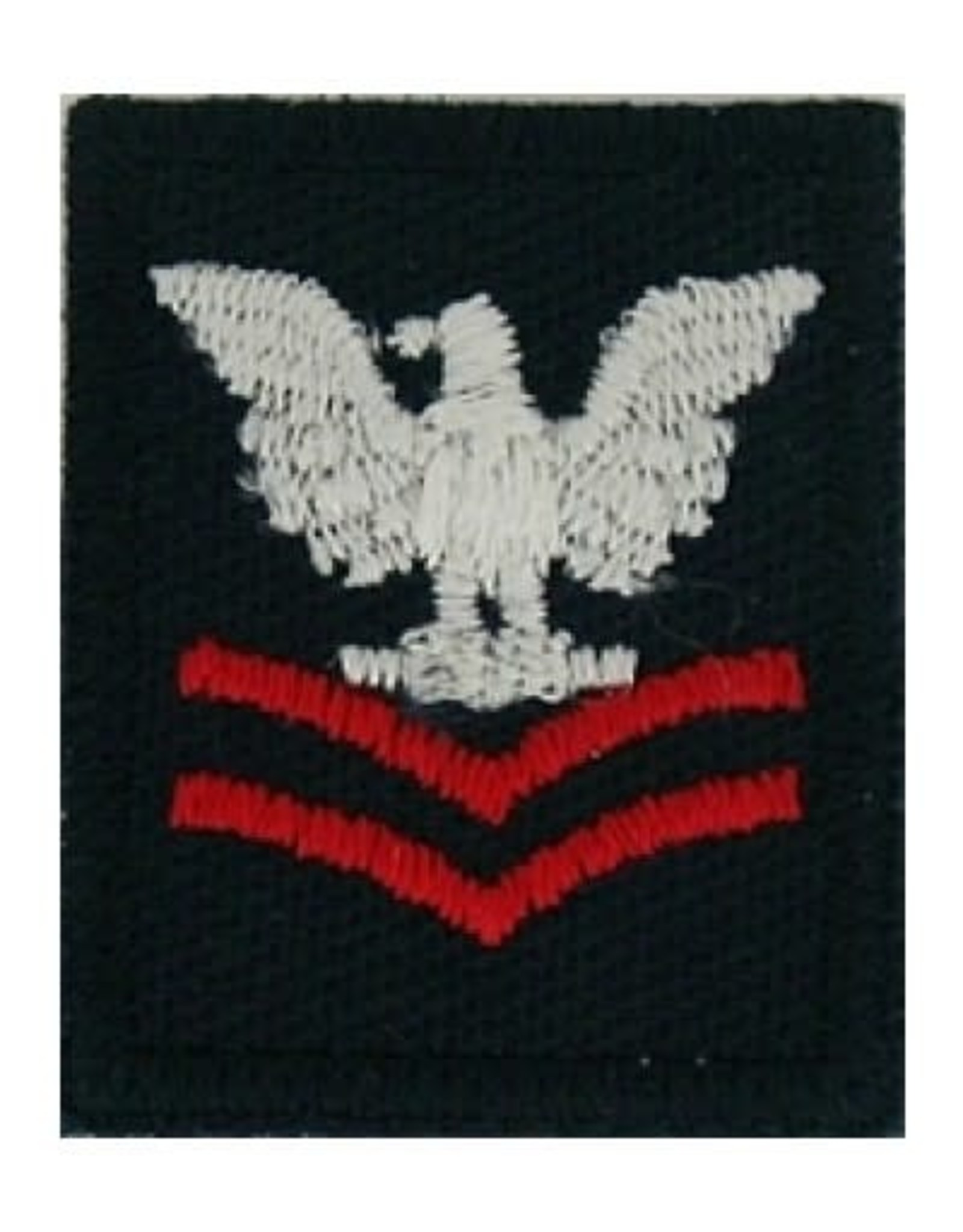 """MidMil Embroidered Navy 2nd Class Petty Officer Patch 1"""" wide x 1.3"""" high Dark Blue"""