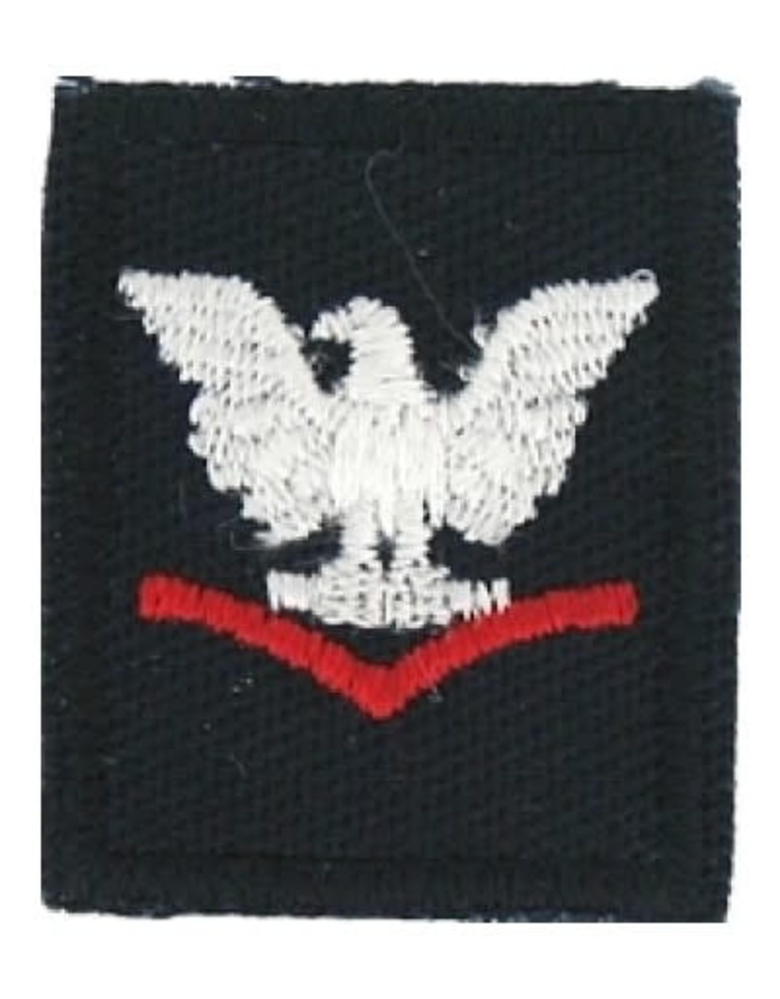 """MidMil Embroidered Navy 3rd Class Petty Officer Patch 1"""" wide x 1.3"""" high Dark Blue"""