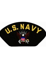 "MidMil Embroidered U.S. Navy Patch with Emblem 5.2"" wide x 2.7"" high Black"