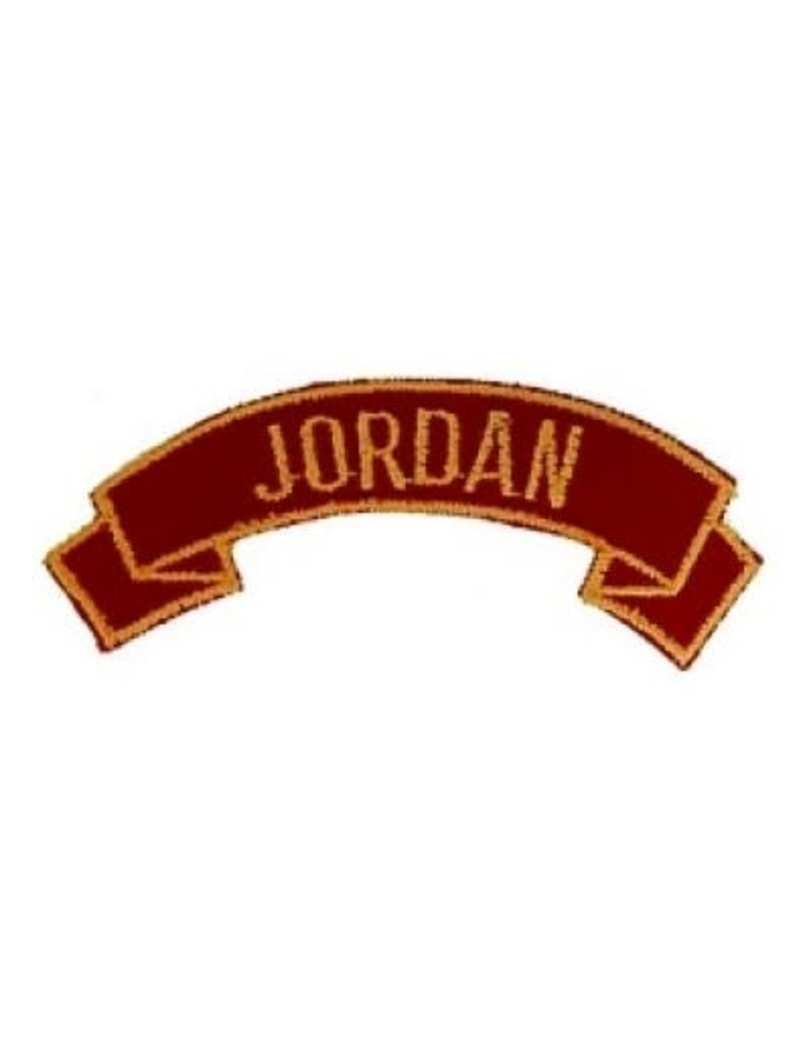 """MidMil Embroidered Marine Corps Country Tab Jordan 3.9"""" wide x 1.5"""" high Red"""