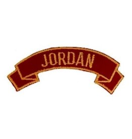 "MidMil Embroidered Marine Corps Country Tab Jordan 3.9"" wide x 1.5"" high Red"