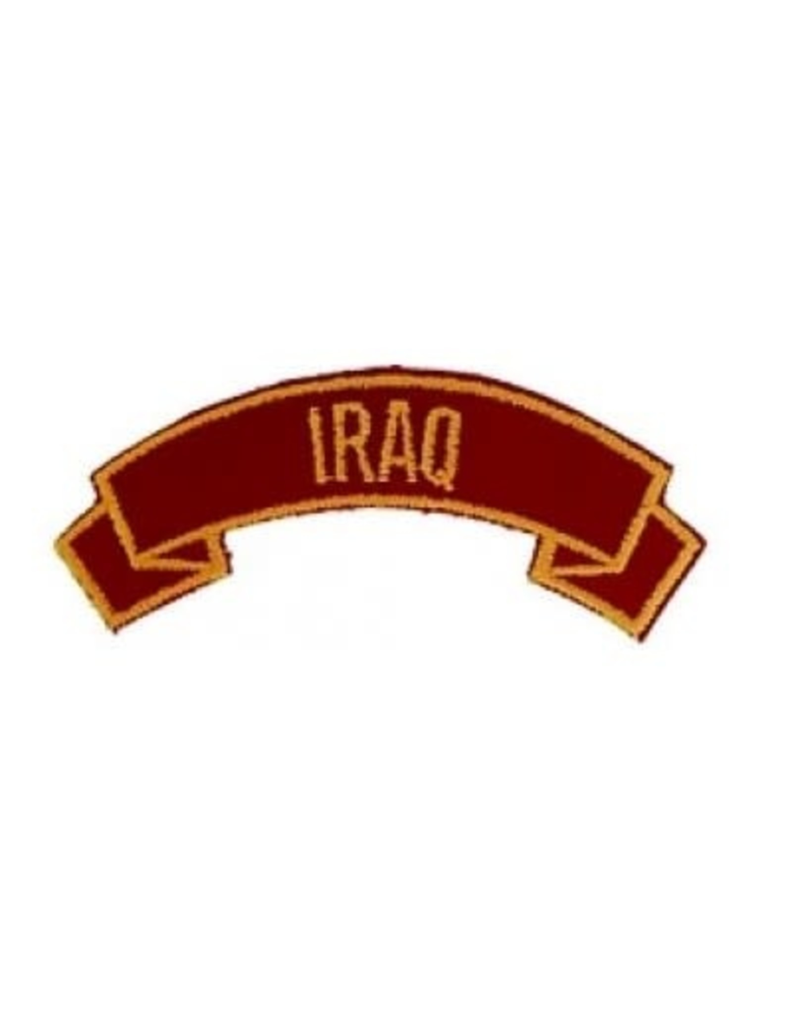 "MidMil Embroidered Marine Corps Country Tab Iraq 3.9"" wide x 1.5"" high Red"