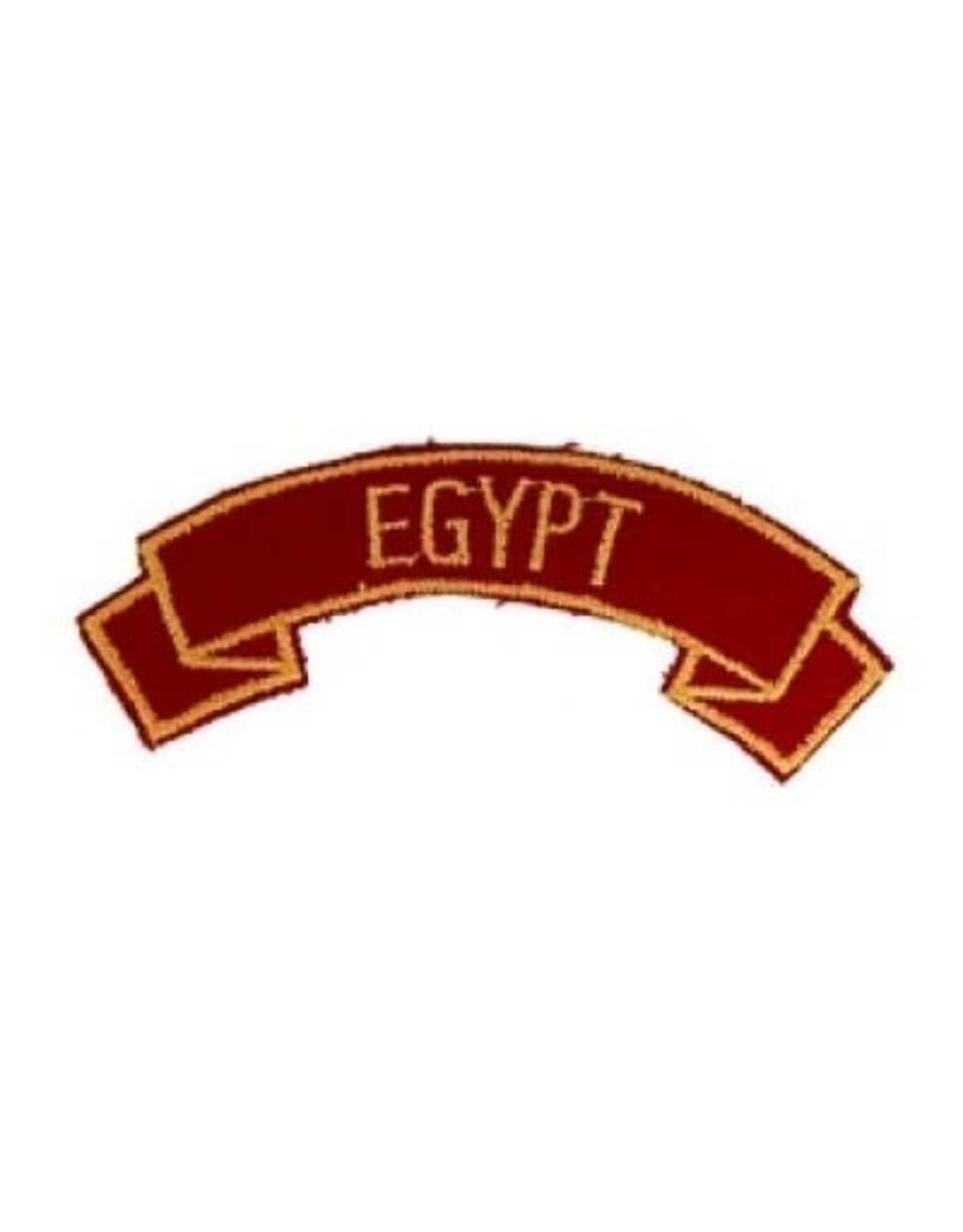 """MidMil Embroidered Marine Corps Country Tab Egypt 3.9"""" wide x 1.5"""" high Red"""