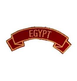 "MidMil Embroidered Marine Corps Country Tab Egypt 3.9"" wide x 1.5"" high Red"