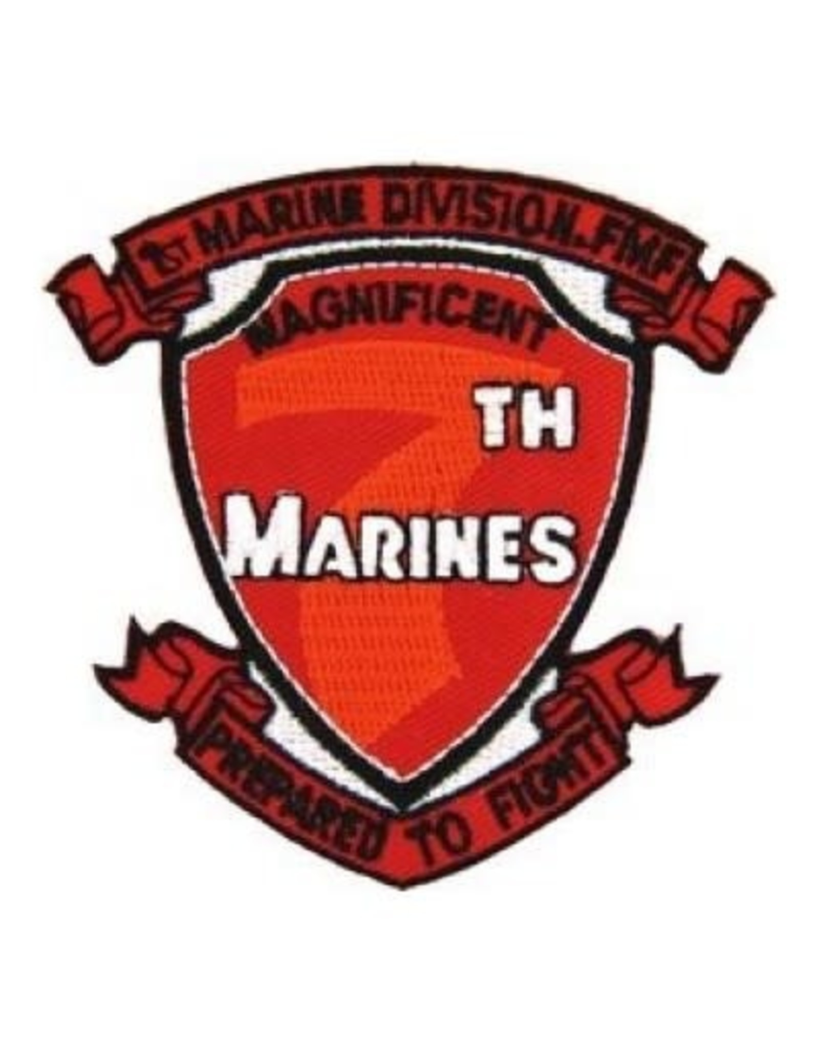 "MidMil Embroidered 7th Marines Emblem Patch 3.2"" wide x 3.1"" high"