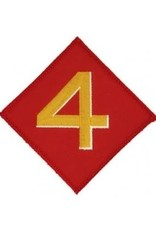 """MidMil Embroidered 4th Marine Division Emblem Patch 3.6"""" wide x 3.6"""" high"""