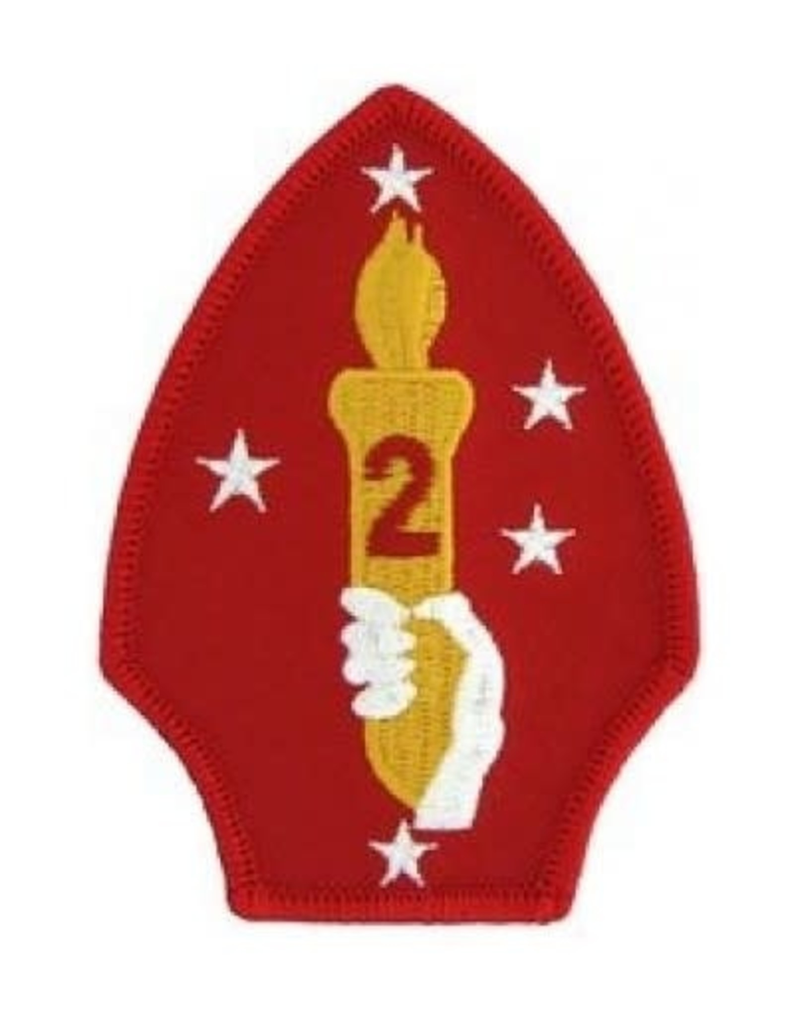 "MidMil Embroidered 2nd Marine Division Emblem Patch 2.6"" wide x 3.6"" high"
