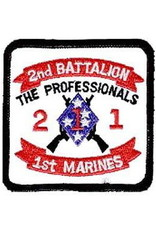"""MidMil Embroidered 2/1 Marines The Professionals Patch with Emblem 3.1"""" wide x 3.1"""" high"""