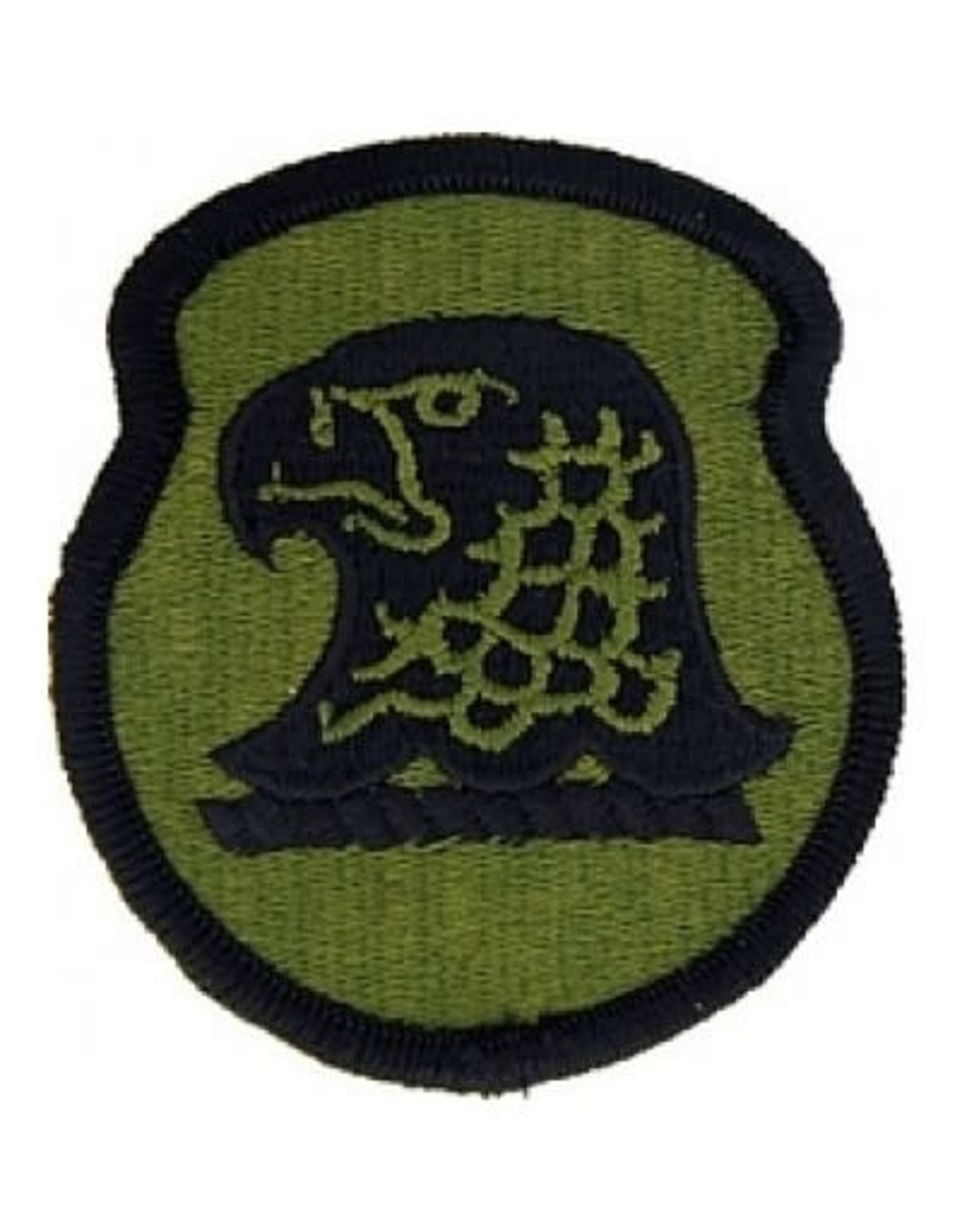 """MidMil Embroidered Subdued Iowa Army National Guard Patch 2.4"""" wide x 2.9"""" high Olive Drab"""