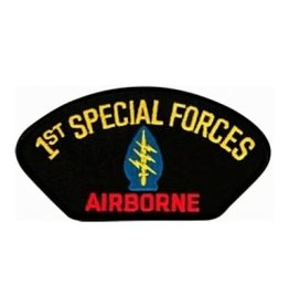 "MidMil 1st Special Forces Airborne Patch with Emblem 5.2"" wide x 2.7"" high Black"