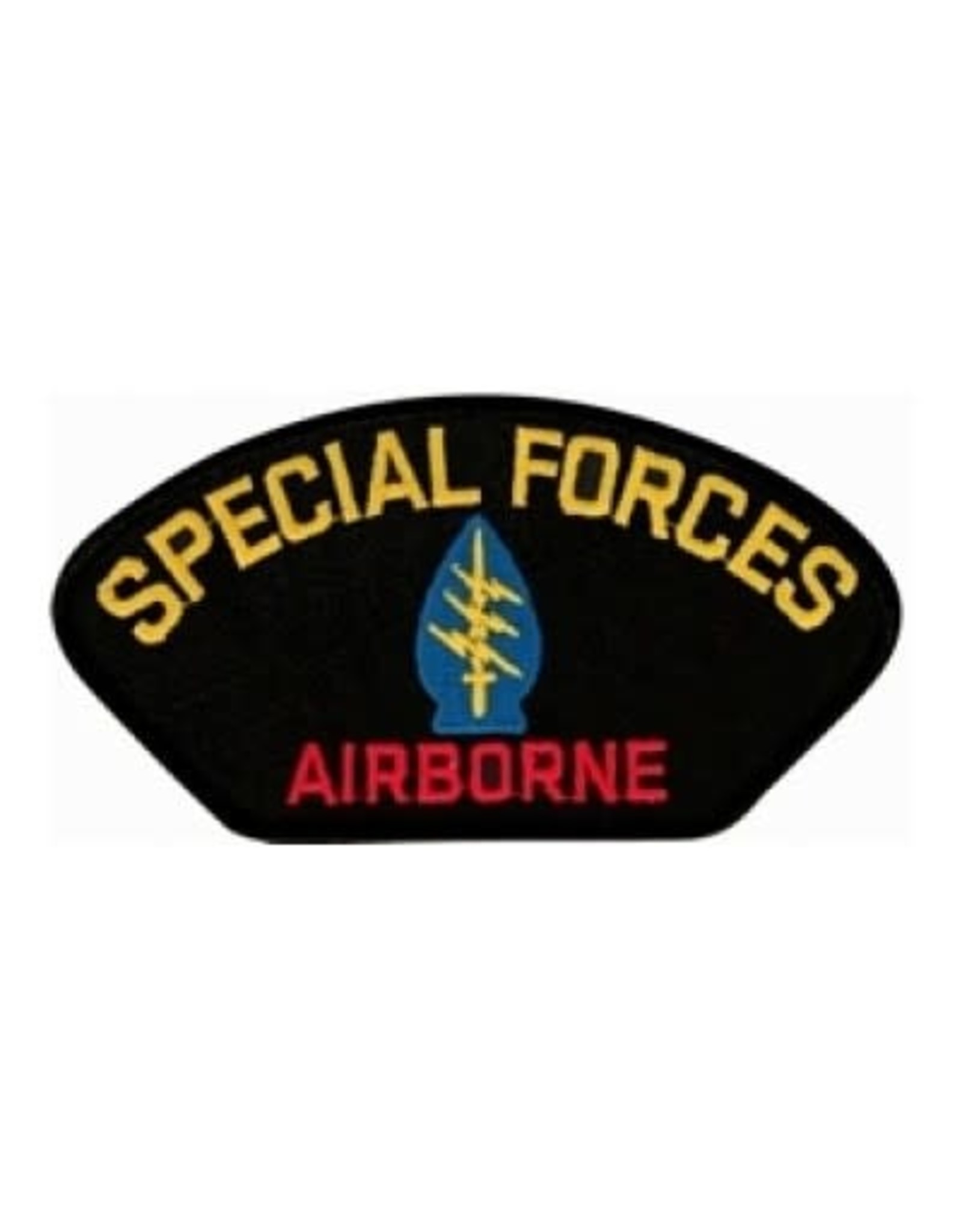 "MidMil Special Forces Airborne Patch with Emblem 5.2"" wide x 2.7"" high Black"