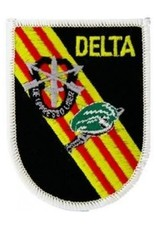 """MidMil Embroidered Delta Force Flash Patch 2.6"""" wide x 3.1"""" high"""