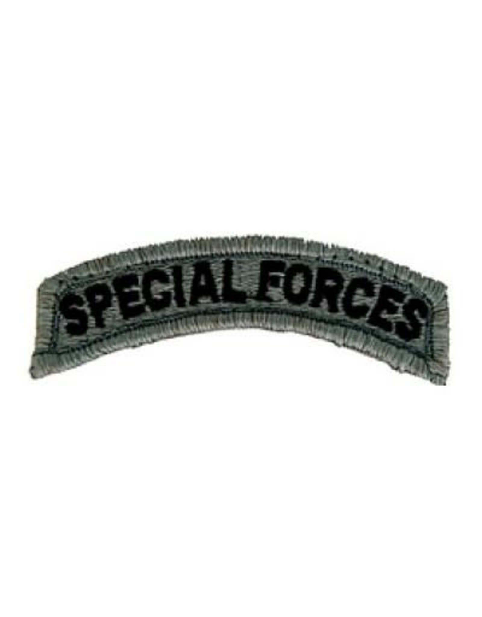 """MidMil Embroidered Special Forces Tab Patch 3.1"""" wide x 1"""" high Velcro back Olive Drab"""