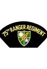 """MidMil Embroidered 75th Ranger Regiment Patch with Emblem 5.2"""" wide x 2.7"""" high Black"""