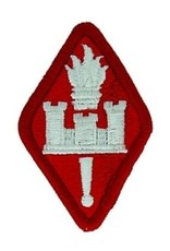 """MidMil Embroidered Army Engineer School Patch 2"""" wide x 3"""" high Red"""
